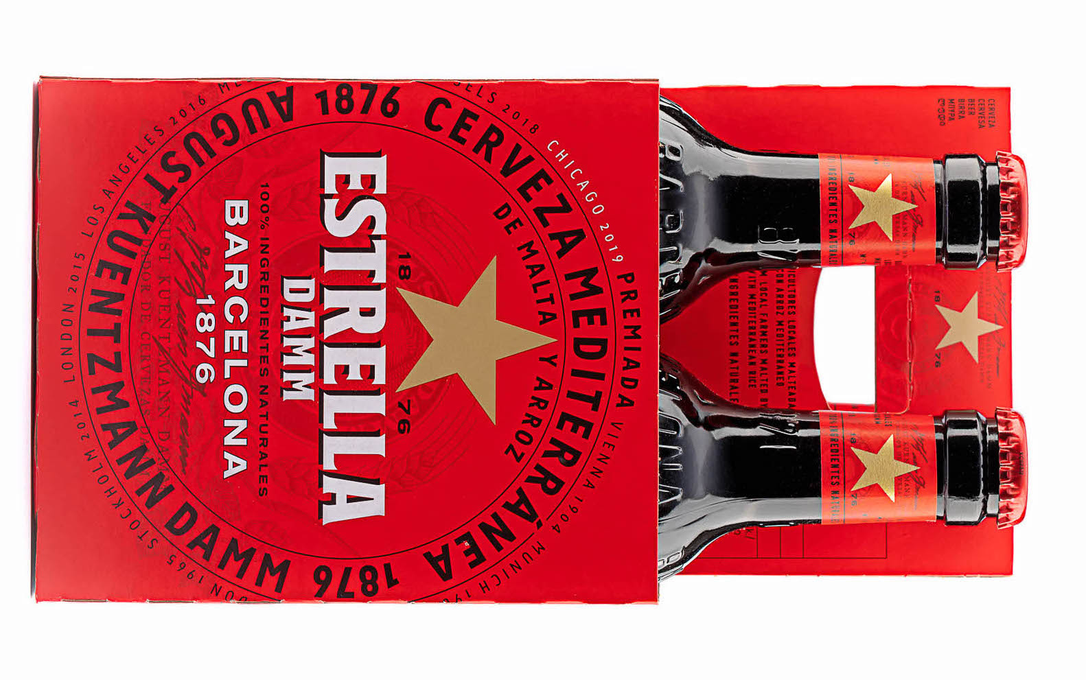4 Bottles of Estrella Damm 330ml