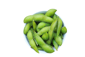 SALTED EDAMAME IN POTS
