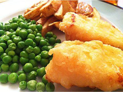 Veggie Fish & Chips (v)